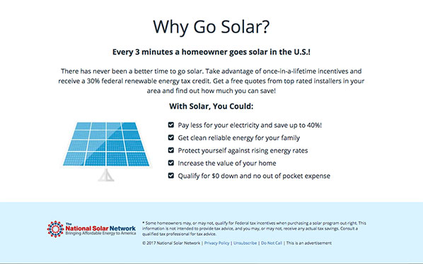 Why go solar with NSN