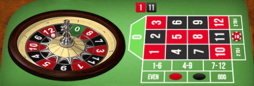 Special mini roulette bets