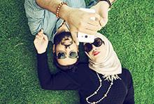 Muslim couple at park