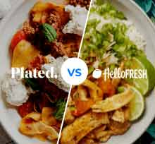 Plated vs HelloFresh - delicious dinners compared