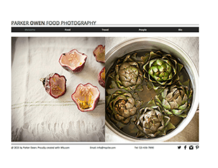 WIX Food Photography Template