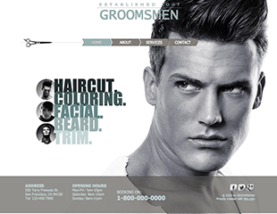 WIX Male Salon Template