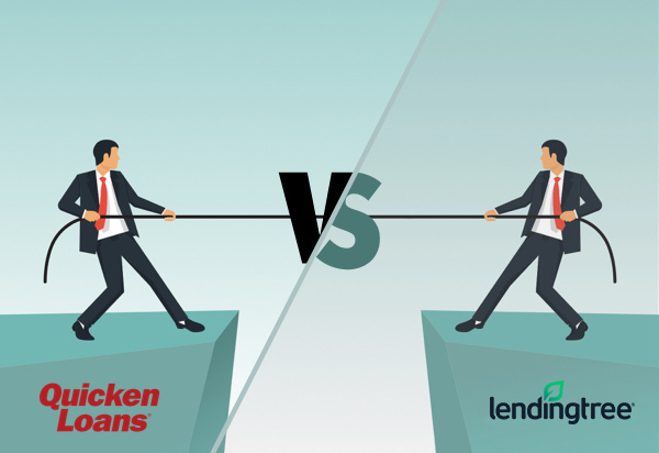 Quicken Loans vs LendingTree mortgages